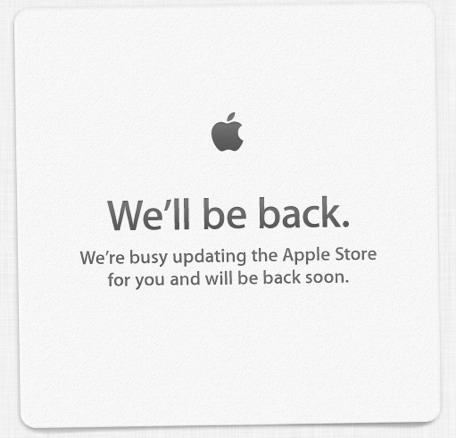 Apple Store website will be back soon.